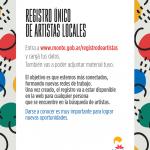 Registro Único de Artistas Locales