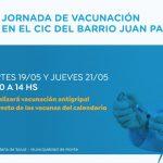 Vacunación en Barrio Juan Pablo II