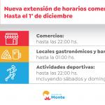 Nuevo Horario Comercial en Monte